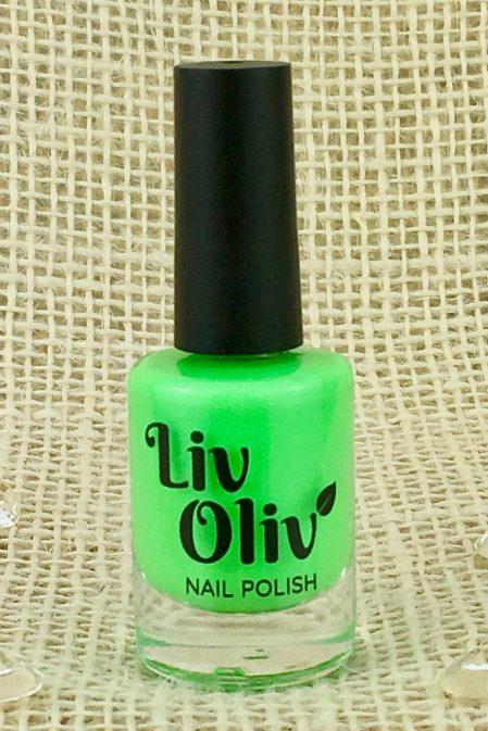 A Neon Green Nail Polish in Bottle