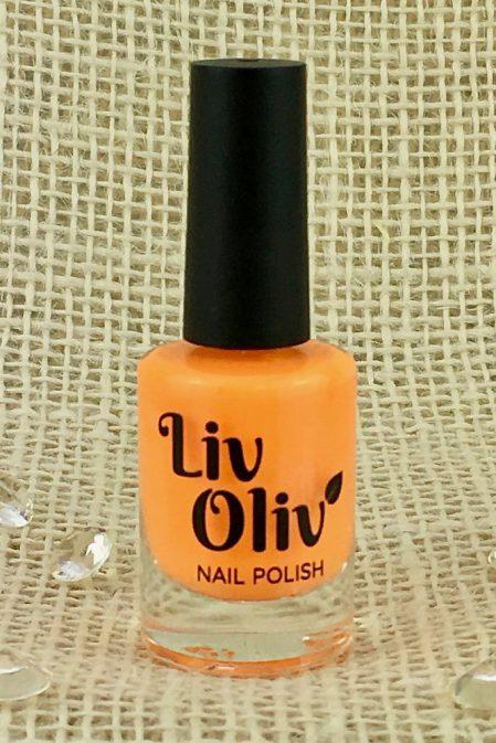 A NEon Orange Nail Polish in Bottle