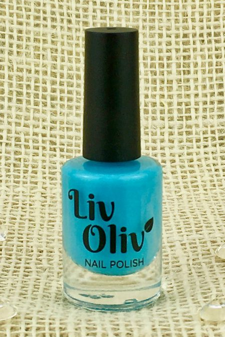 A Neon Turquoise Nail Polish in Bottle