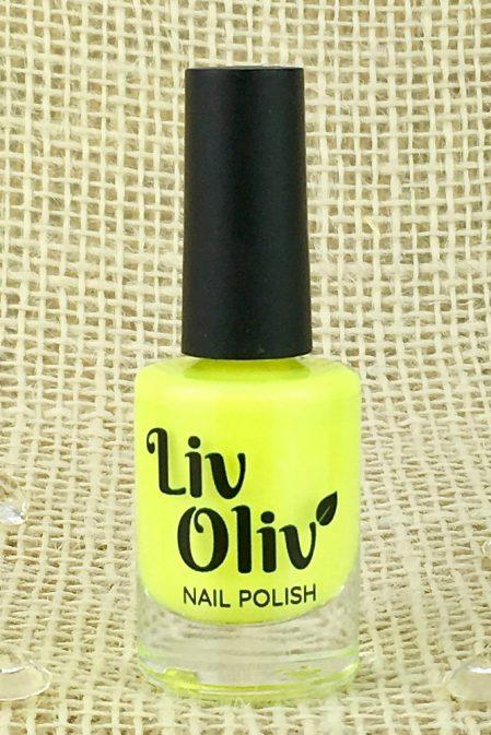 A Neon Yellow Nail Polish Bottle