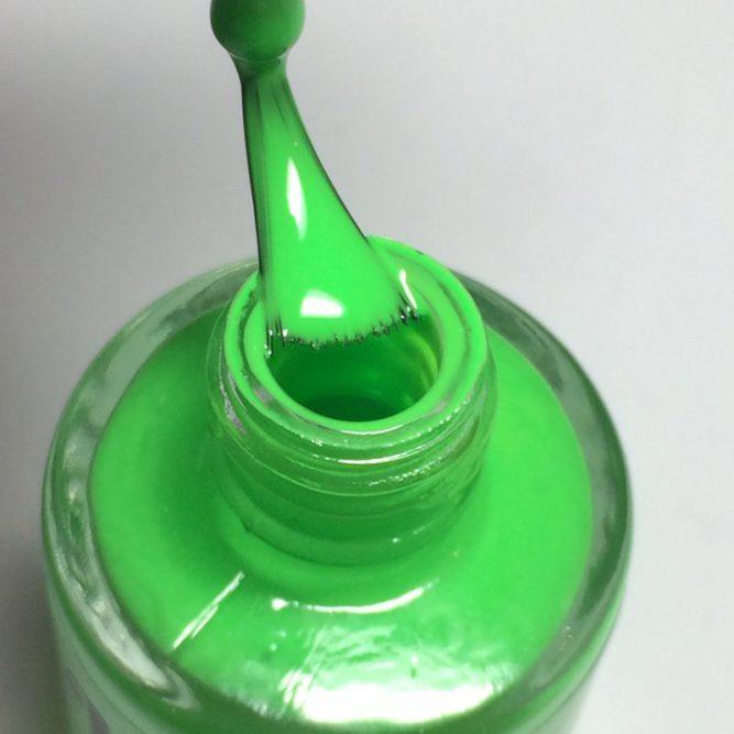 Euphoria bottle macro - bright neon green