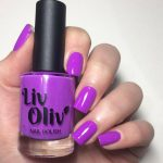 Peace swatch - bright neon purple gloss top coat