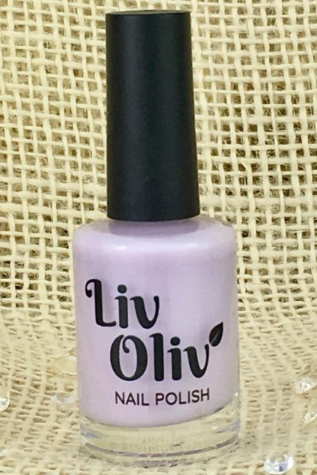 Pale Pastel Lilac Nail Polish in Bottle