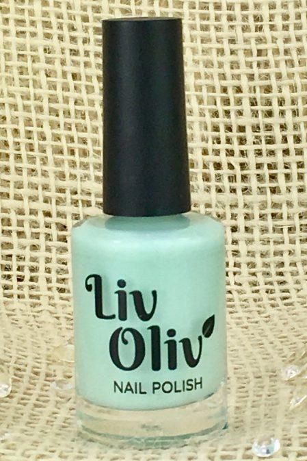 Pale Pastel Green Nail Polish in Bottle
