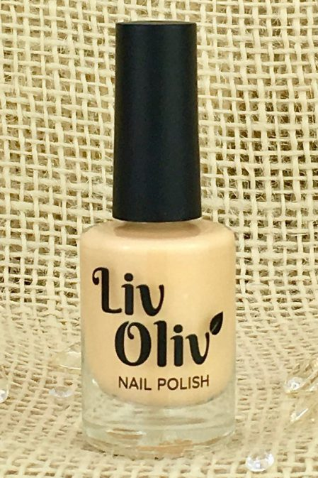 Pale Pastel Peach Nail Polish in Bottle