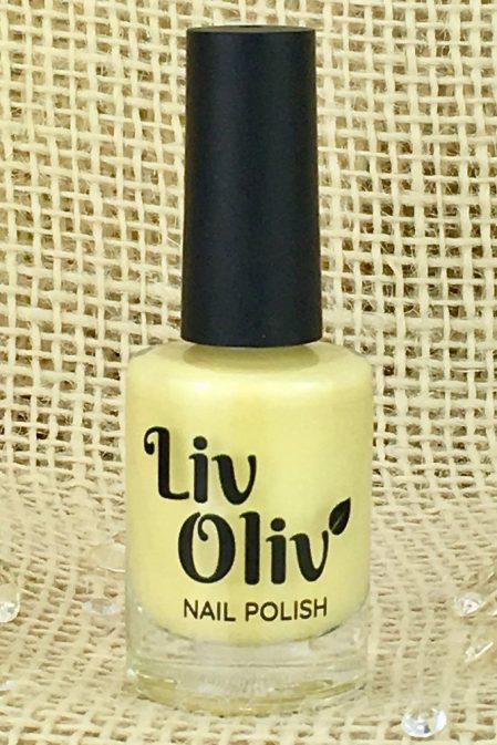 Pale Pastel Yellow Nail Polish in Bottle