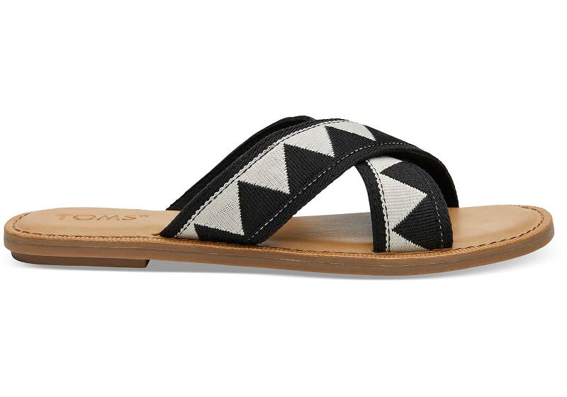 BLACK GEOMETRIC WOMEN'S VIV SANDALS