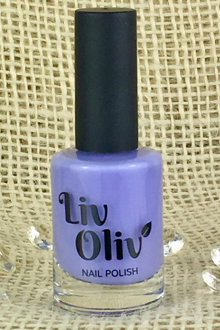 A gentle, creamy Lilac Coloured Nail Polish
