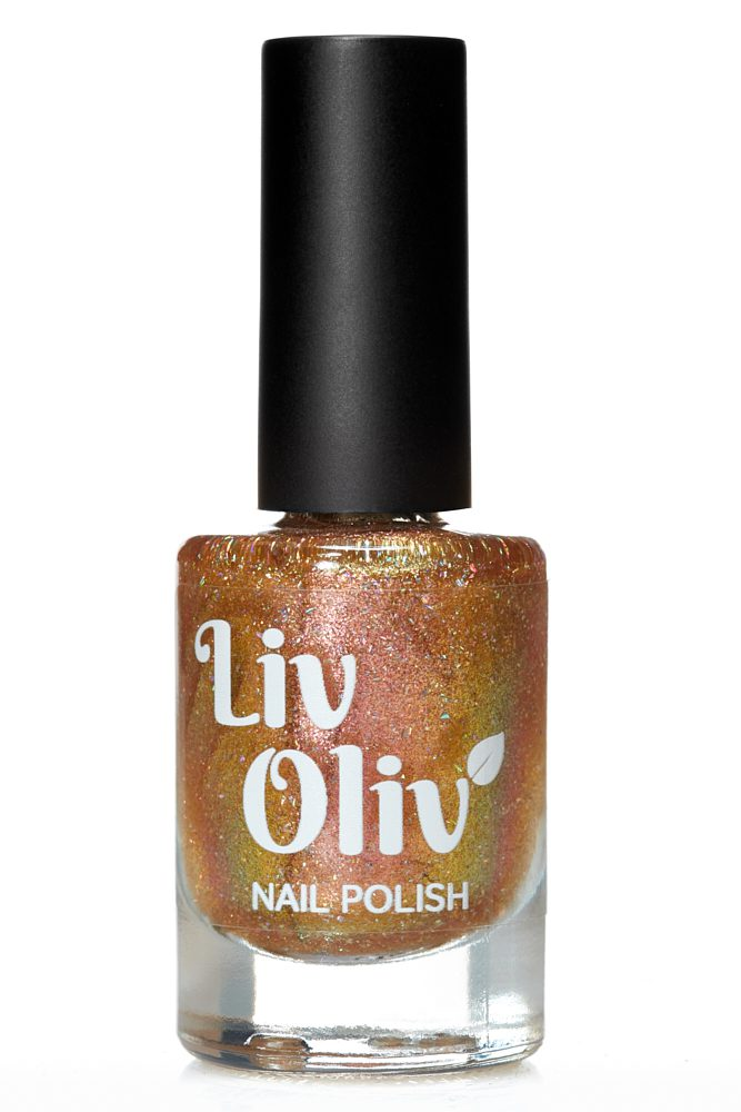 Rose Gold holo cruelty free nail polish