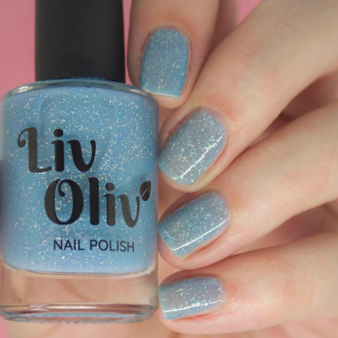 blue to purple photochromic cruelty free nail polish blue nails