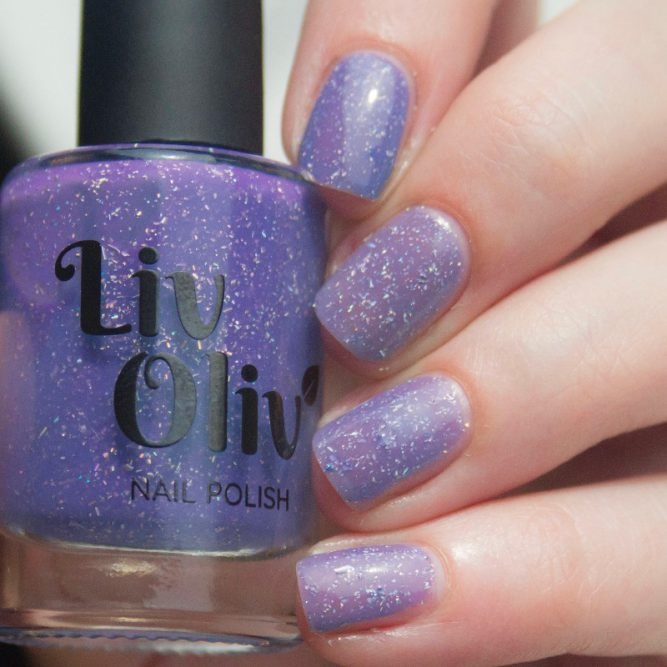 blue to purple photochromic cruelty free nail polish purple nails