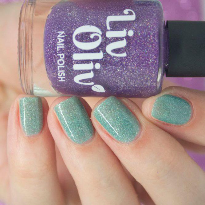 purple to aqua thermal cruelty free nail polish aqua nails