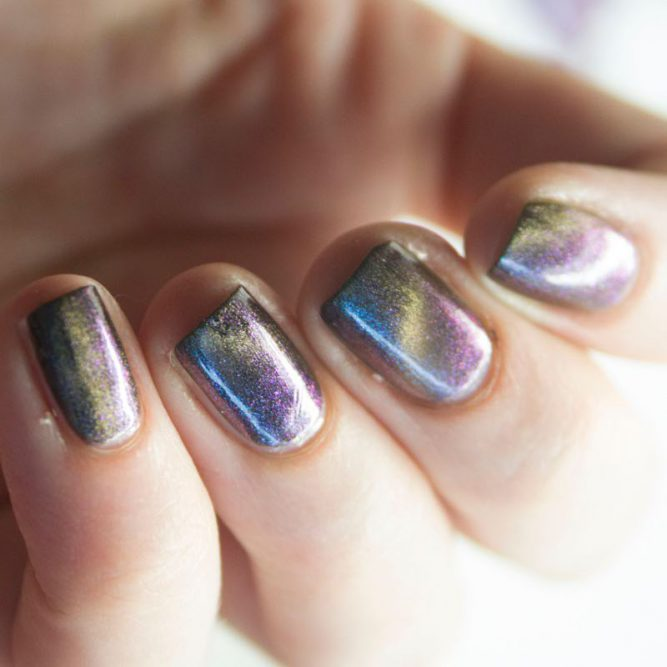 livoliv cruelty free multi coloured chameleon magnetic nail polish
