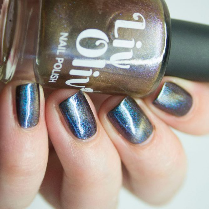 multi coloured chameleon magnetic cruelty free nail polish side