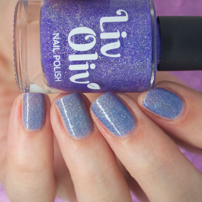 purple to blue thermal cruelty free nail polish