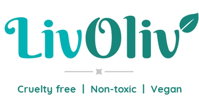 LivOliv main logo with cruelty free, non-toxic and vegan text