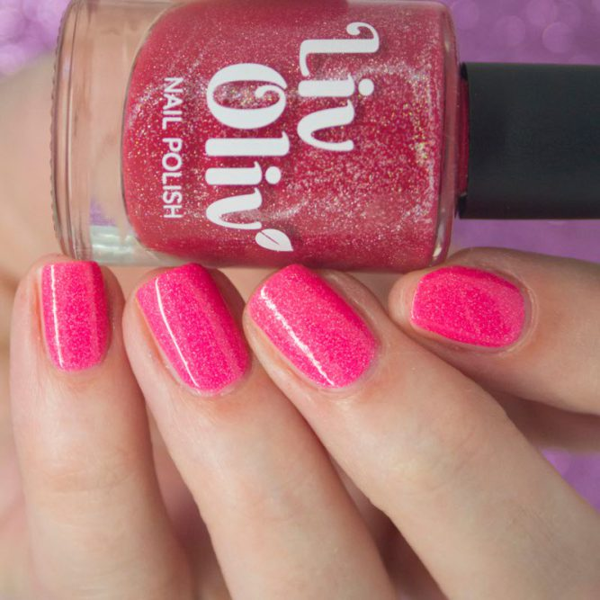 red to pink thermal cruelty free nail polish hot pink nails