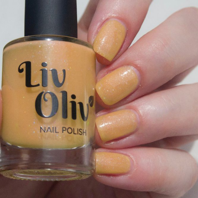 yellow to orange photochromic cruelty free yellow polish orange nails