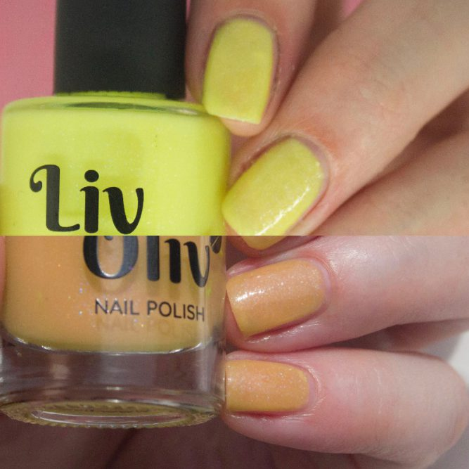 photochromic yellow cruelty free nail polish transition nails