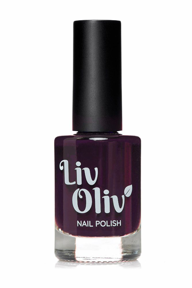 Livoliv dark purple nail polish in bottle