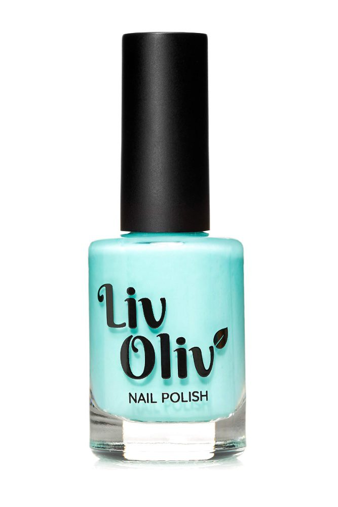 livoliv jade green polish in a bottle